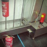 sistema de secado de extintores