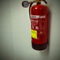 Comprobación de presión de extintor