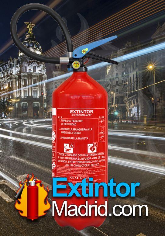 Extintor de Espuma AFFF 6Lts