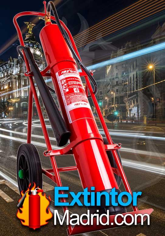 Extintor de co2 de carro 10Kgs
