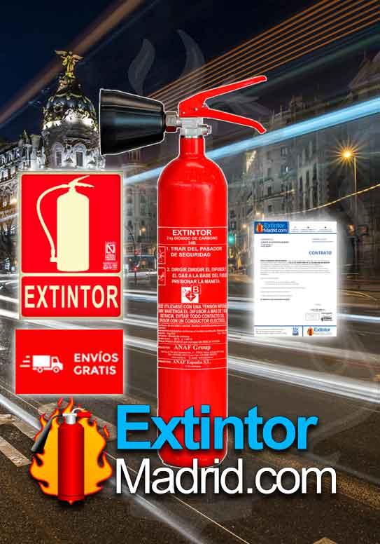 Oferton Ext co2 2Kgs, cartel, contrato y envío