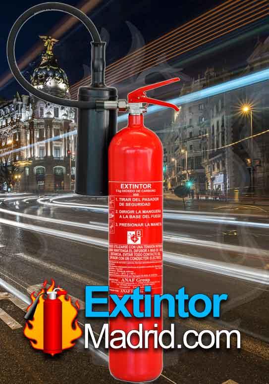 Extintor de co2 de 5Kgs. A 89-B C