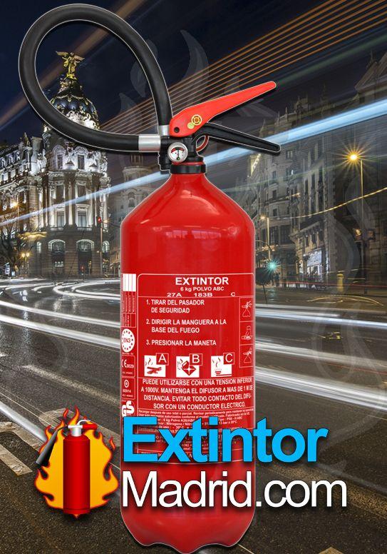 Extintor de Polvo 6Kgs. 21-A 113-B