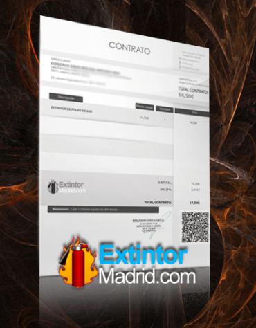 Contrato de mantenimiento extintores madrid
