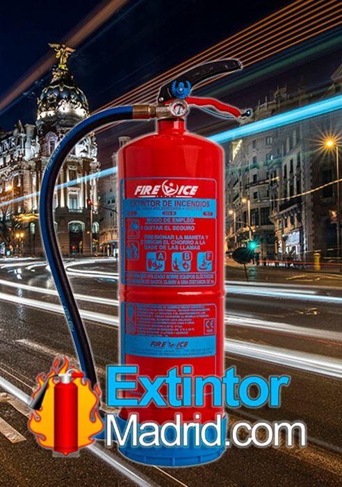 Extintor de espuma afff de 6lts extintor madrid