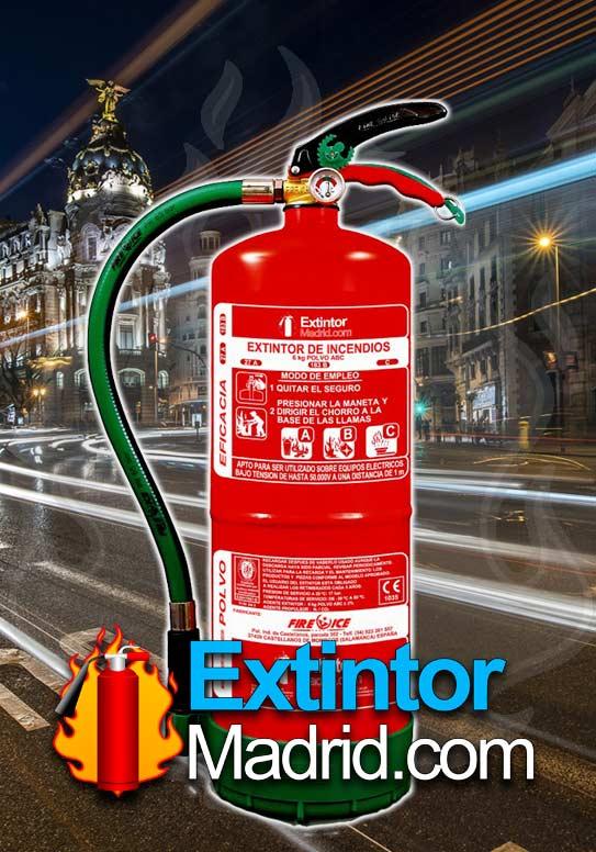 Extintor de Polvo de 6Kgs. 27-A 183-B