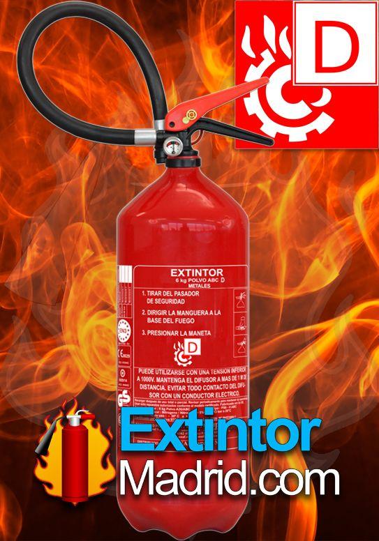 Extintor Clase D Fuegos Metales 6Kg
