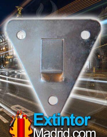 soporte triangular extintor